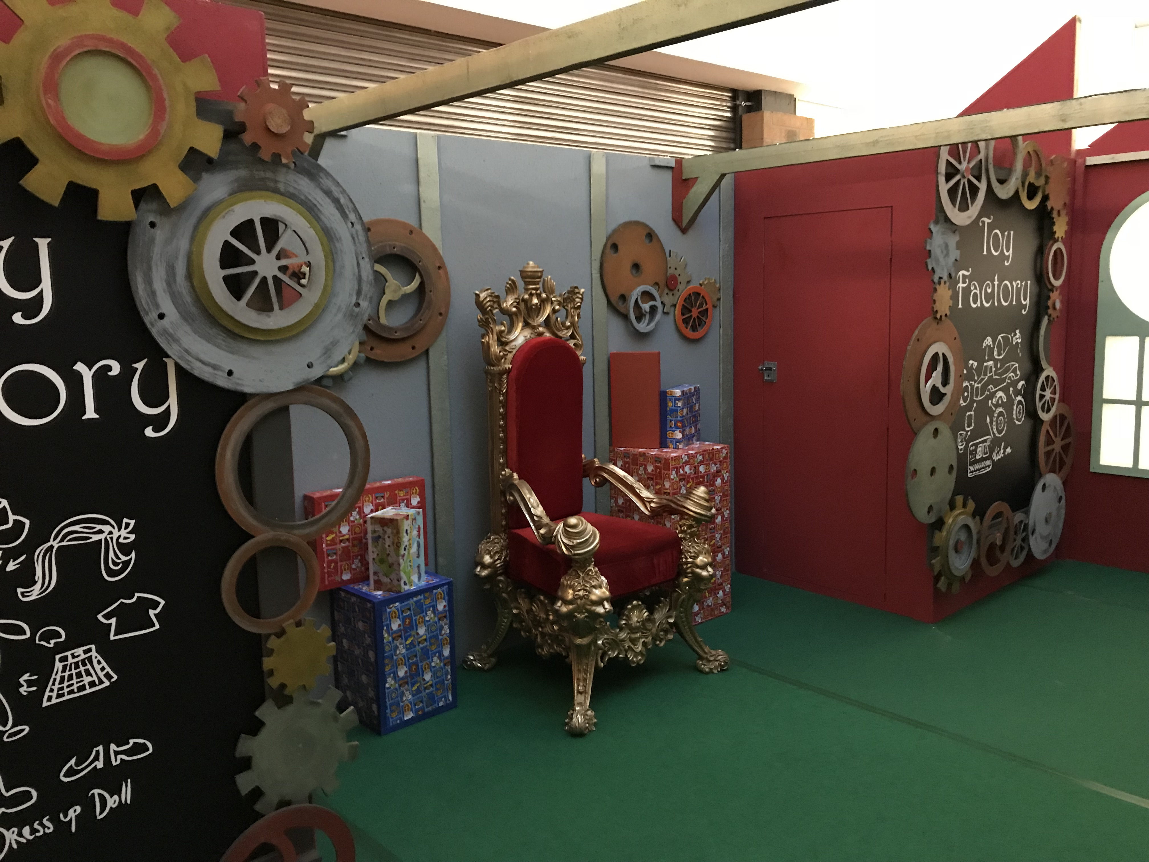 Decor of the toy factory
