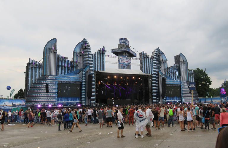 Lake Festival Futuristic City Stage