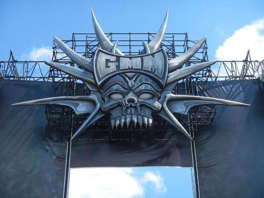 Het podiumdecor van de Metal Dome