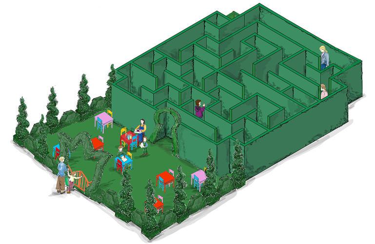 Le labyrinthe de printemps