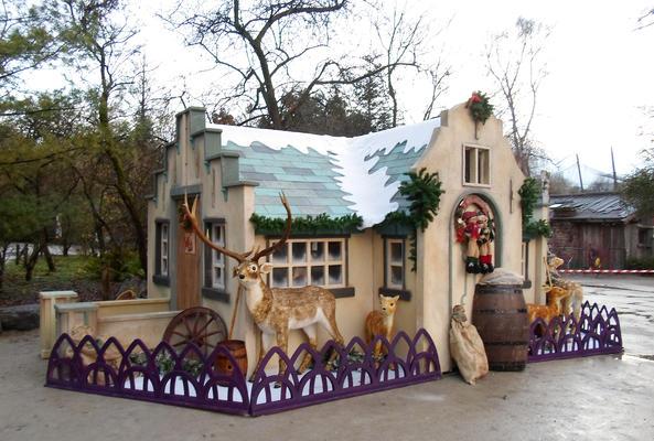 Decor of Little Christmas house