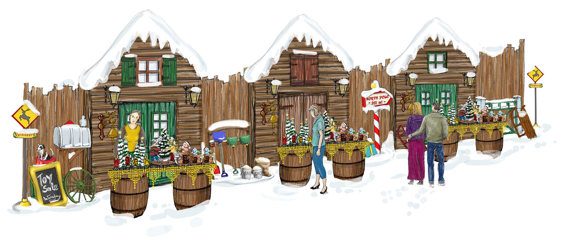 Decor of christmas market phixion for Decor market
