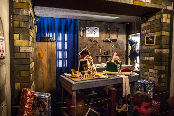 Interieur van het huis van de Kerstman