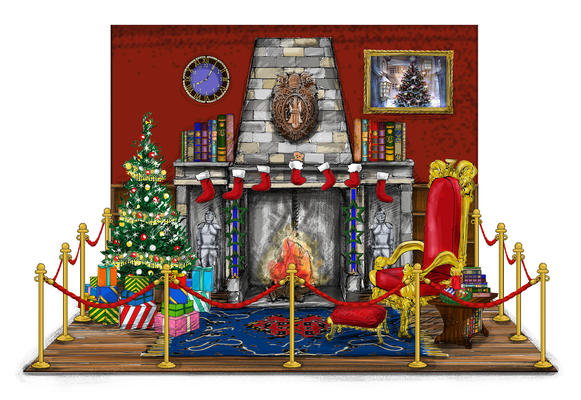 Santa house Interior