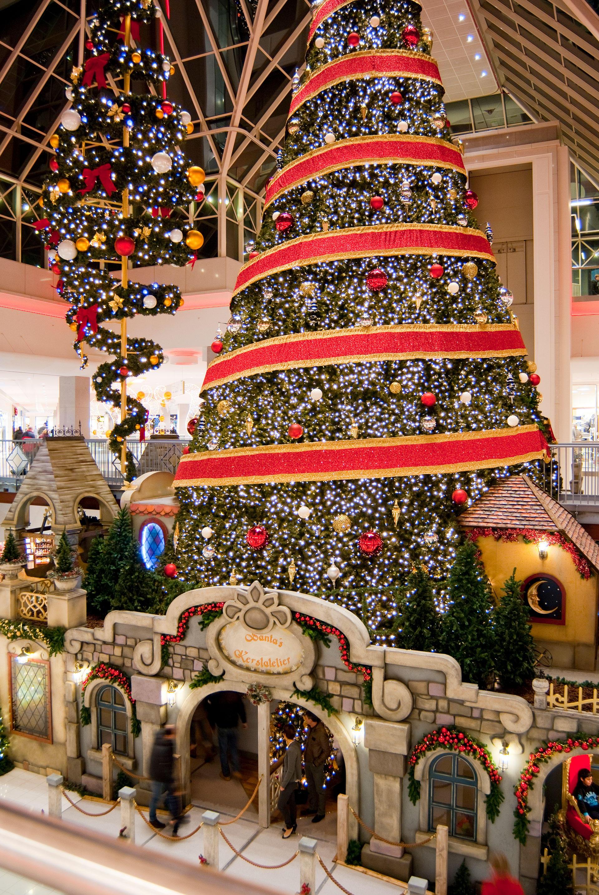 giant tree with christmas village - Christmas Tree Village