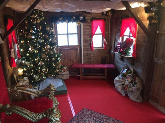Kerstchalet decoratie
