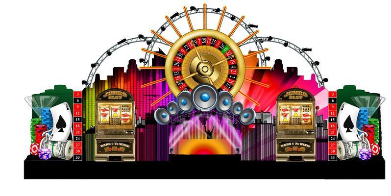 Decor Music World Las Vegas with Slot Machines