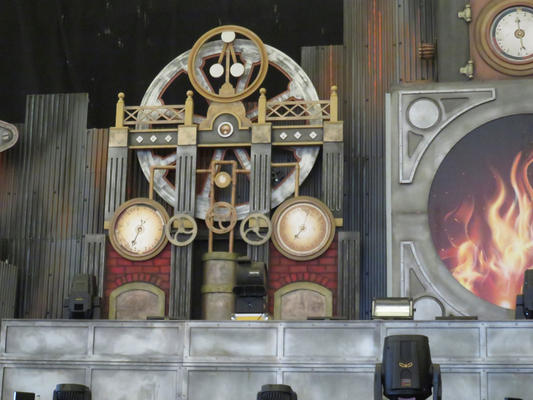 'On stage' versie van steampunk