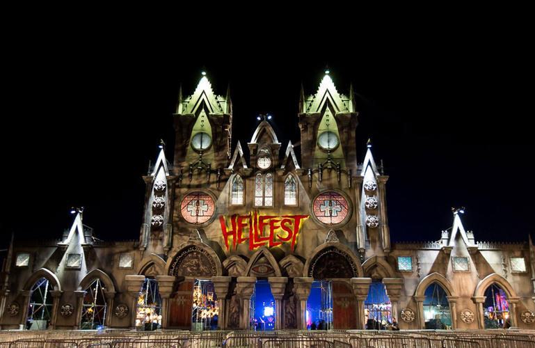 Hellfest cathedral entrance – France