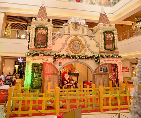 Decor van het kasteel van de Kerstman