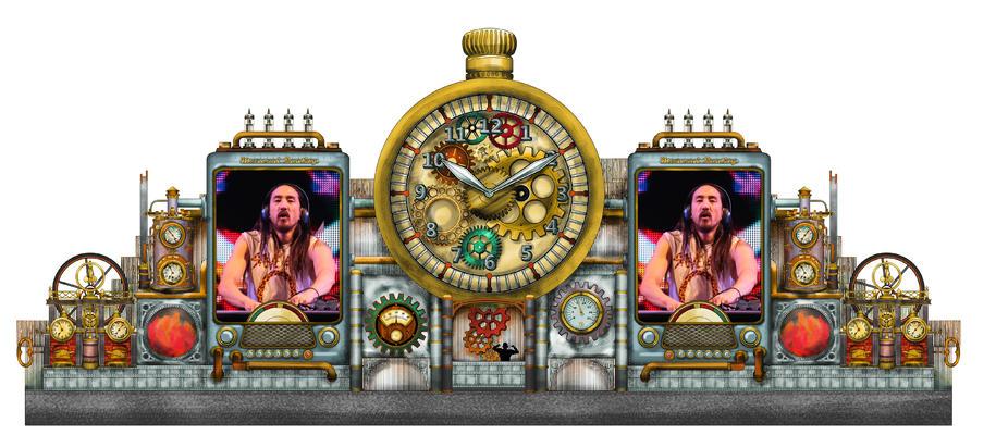 La version 'Watch/TV' du décor steampunk