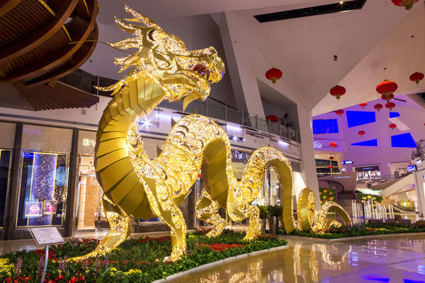 Giant light dragon