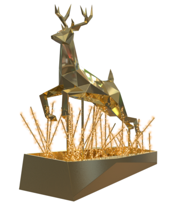 680-588,Crystalline Stag Jumping,Indoor,3D,LEDww,go,crystal,36V,~280x380x80cm.png