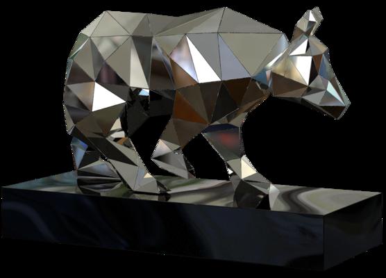 680-591,Crystalline Bear,Indoor,3D,si,bk,~110x190x280cm.png