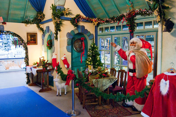 Decor of Santa Claus' house