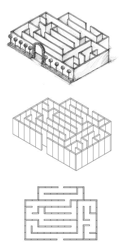 Labyrinthe en 11 pièces