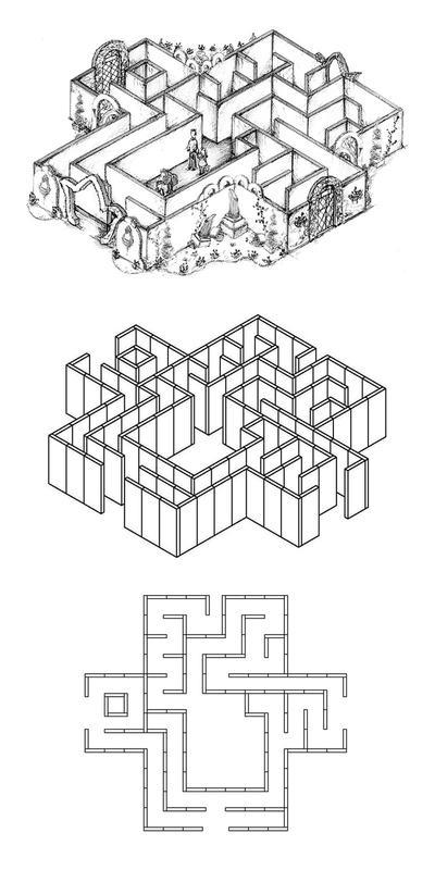 Labyrinthe en 13 pièces