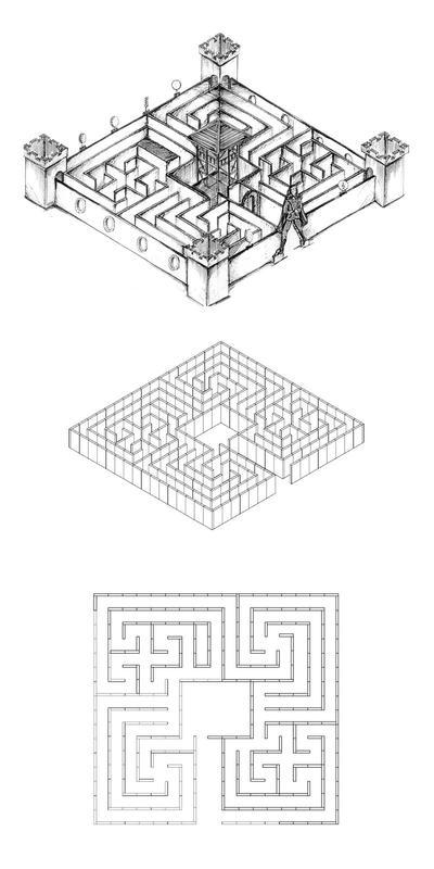 Labyrinthe en 17 pièces