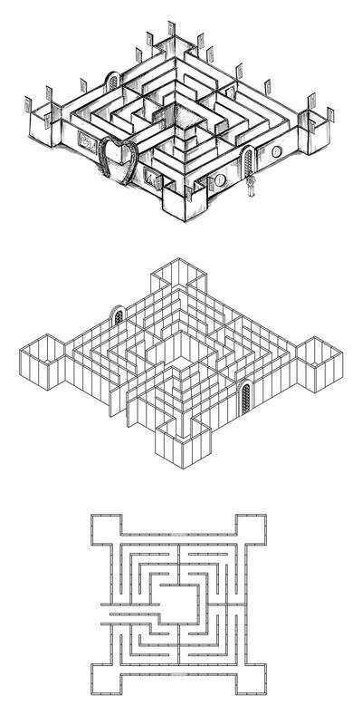 Labyrinthe en 18 pièces