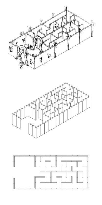 Labyrinthe en 4 pièces