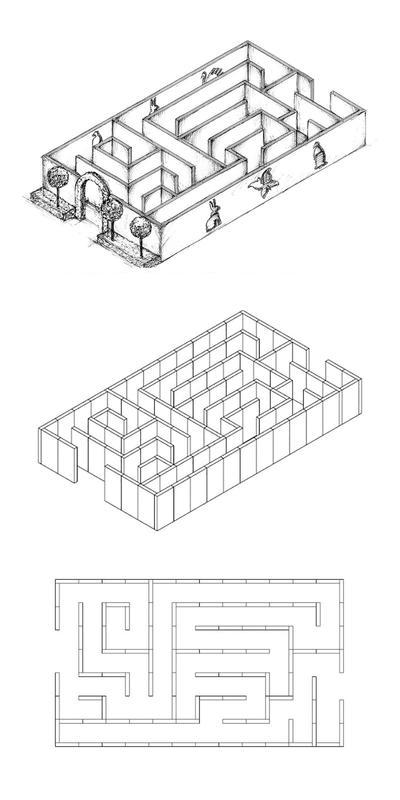 Labyrinthe en 7 pièces