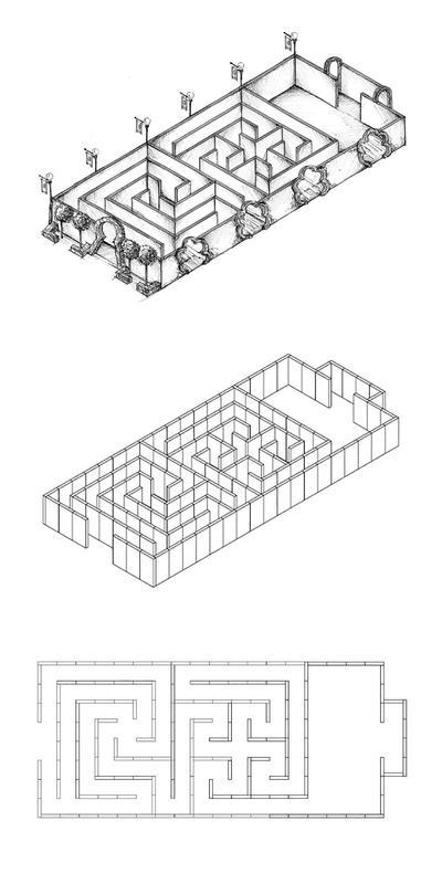 Labyrinthe en 8 pièces
