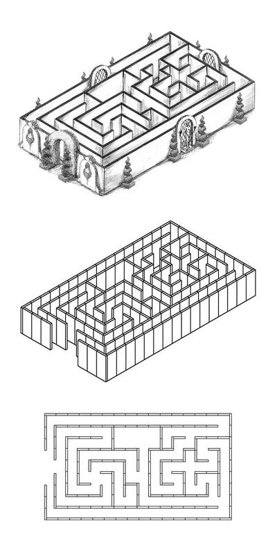 Labyrinthe en 9 pièces
