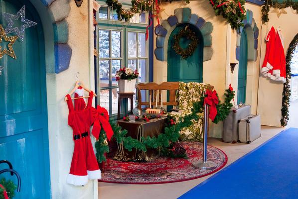 Decor huis van de Kerstman
