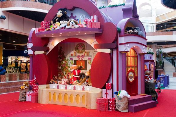 Décor de petit château des jouets